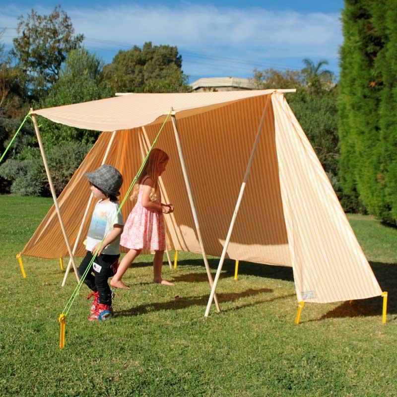 Orange Fabric Shelter : One foot island sun shelters lattice makers